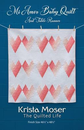 Mi AMor Baby QUilt and table runner