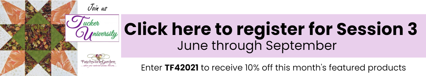 Click here to register for Session 3 June through September. Enter TF42021 to receive 10% off this month's featured products