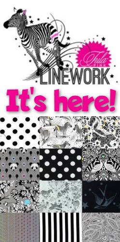 It's Here!  Tula Pink Linework