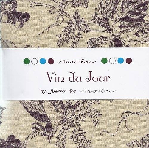 Vin du Jour by 3 sisters  Charm Pack (5 squares)