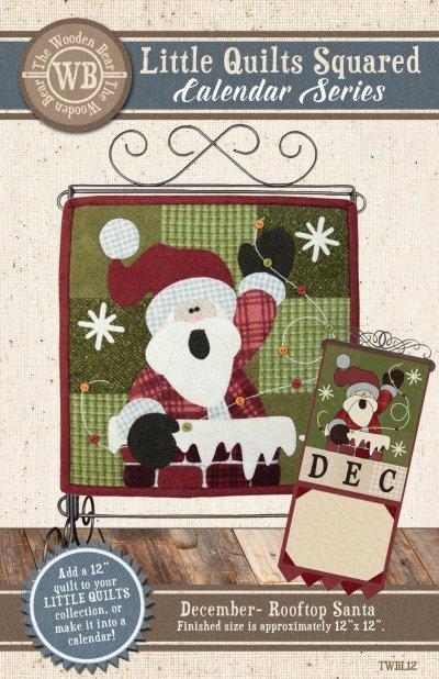 Wooden Bear December - Rooftop Santa