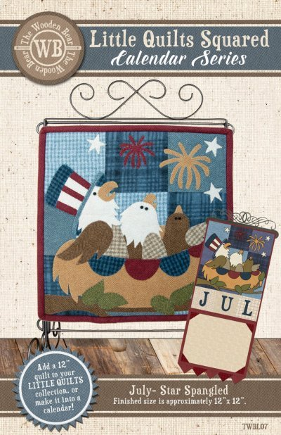 Wooden Bear July - Spangled