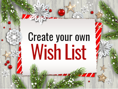 Create your own wish list