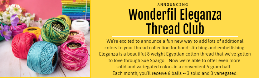 Announcing Wonderfil Eleganza Thread Club