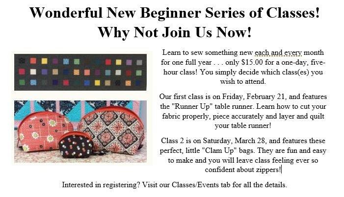 Wonderful new beginner sewing classes