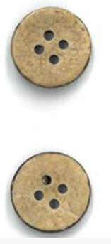 Wooden Buttons - 5/8