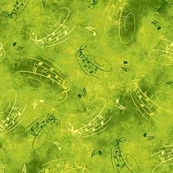 Songs of Nature Musical Notes Toss Spring Green