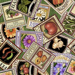 A Gardening We Grow Seed Packets Green