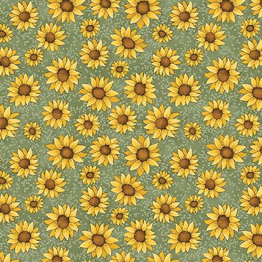 Sunshine Garden Sunflowers Green