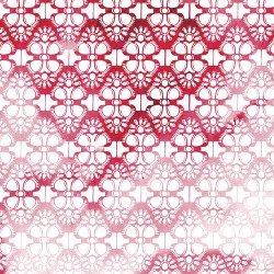 Cherish Digital Red/White Ombre Lace