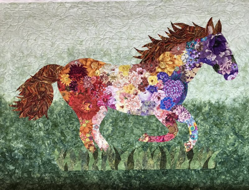 Sharon Pudwill's Collage horse