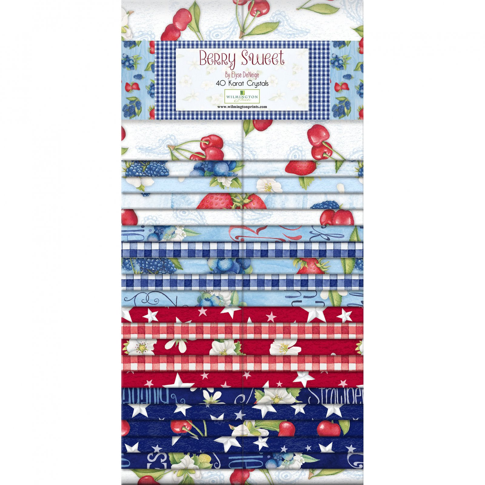 Berry Sweet 2 1/2 strip Collection 40 pc