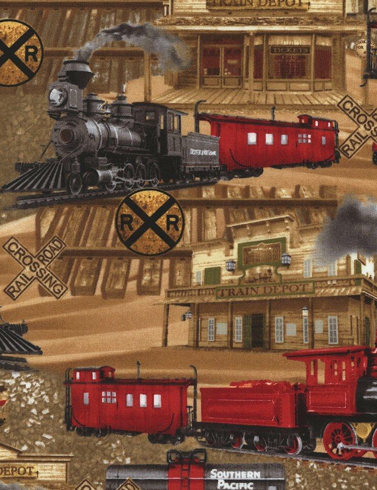 Trains on Tan