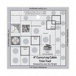 Creative Grids 4 Curvy Log Cabin Trim Tool