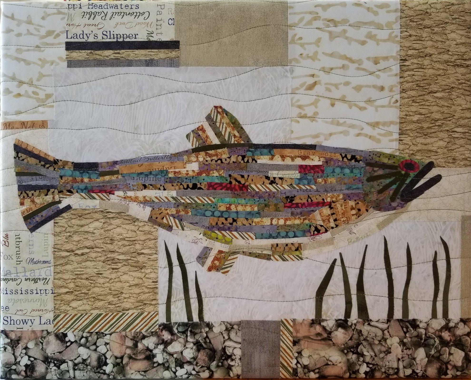 Fish Collage Fabric Kit