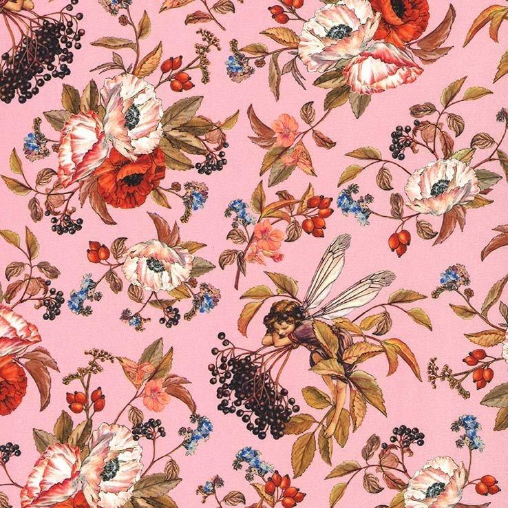 Elderberry Flower Fairies on Pink