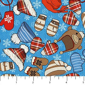 Cutie Hooties Flannel winter essentials on blue