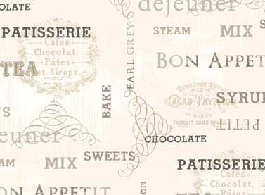 Ivory Kitchen Cream Word Print