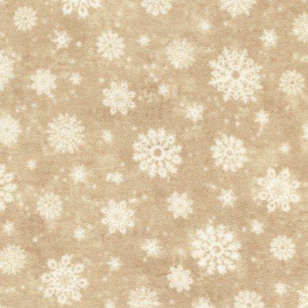 Winter Memories Flannel Beige Snowflakes