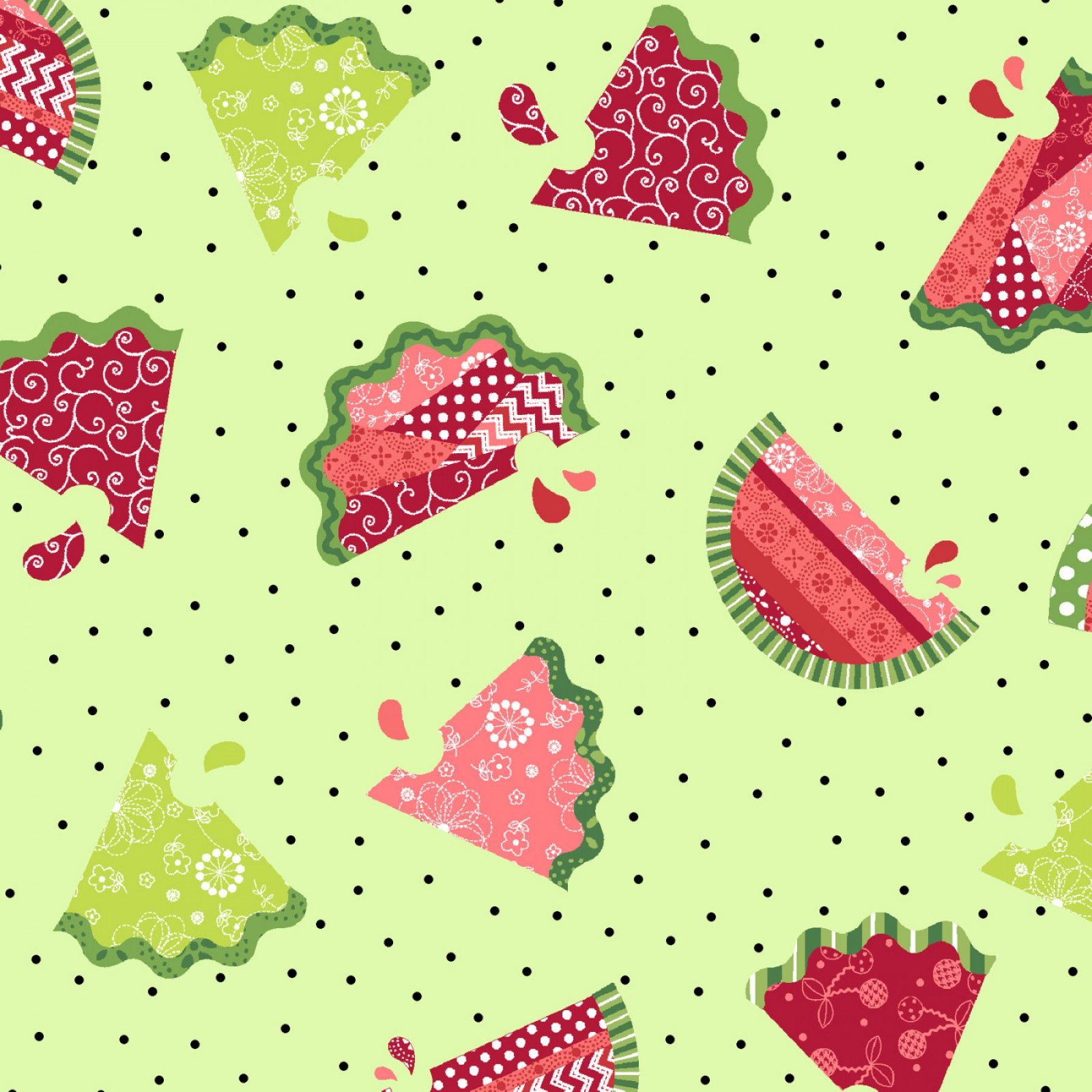 Sprinkle Sunshine Watermelons on Green