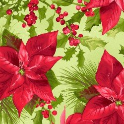 Poinsettia & Pine Poinsettia Mixed Floral Green