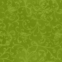 Poinsettia & Pine Elegant Scrolls Green