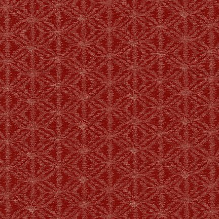 Sevenberry Kasuri Medallion on Red