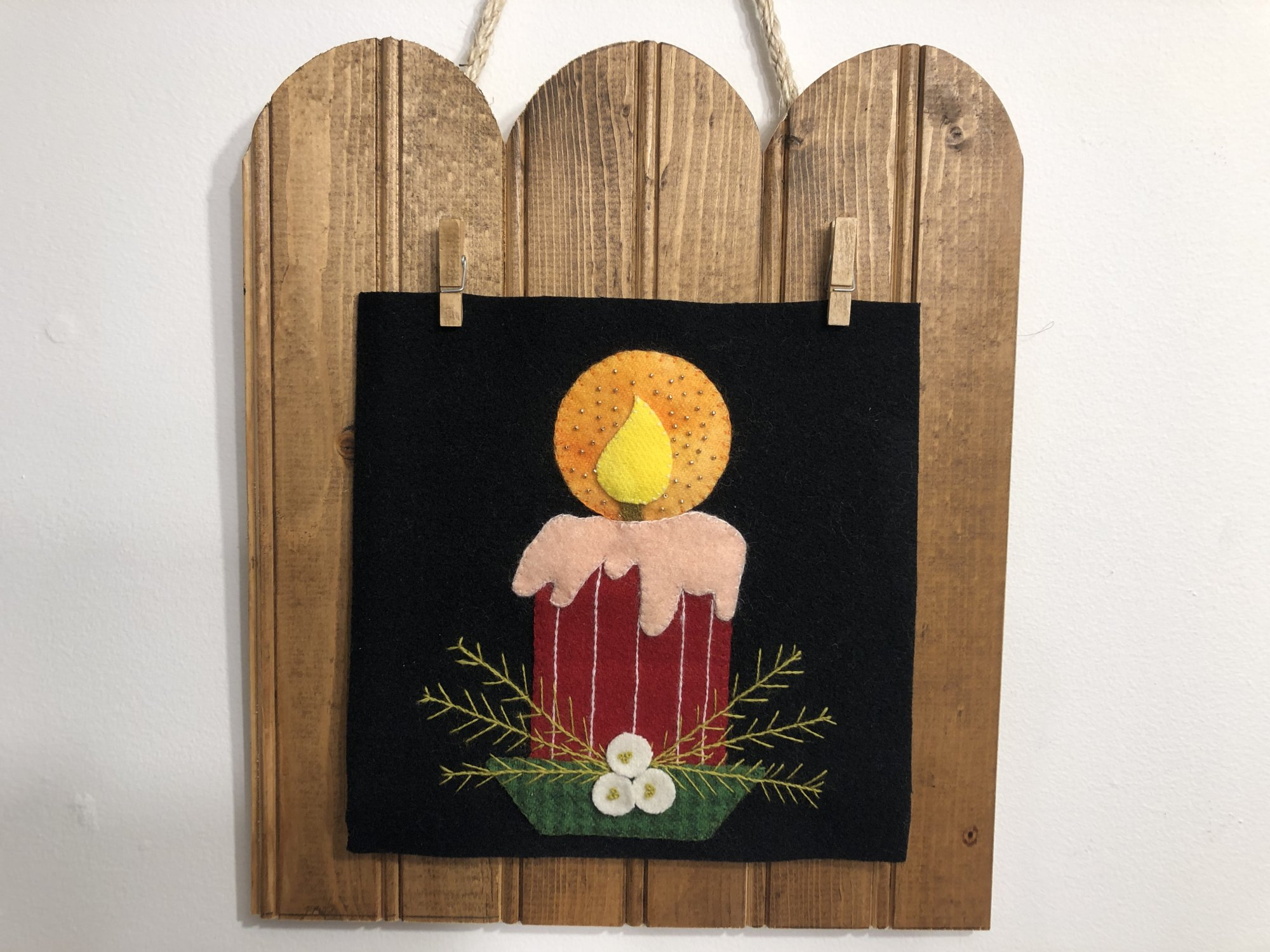 Holiday Glow Chrismas Candle pattern