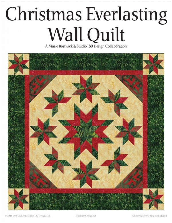 Christmas Everlasting.Christmas Everlasting Wall Quilt