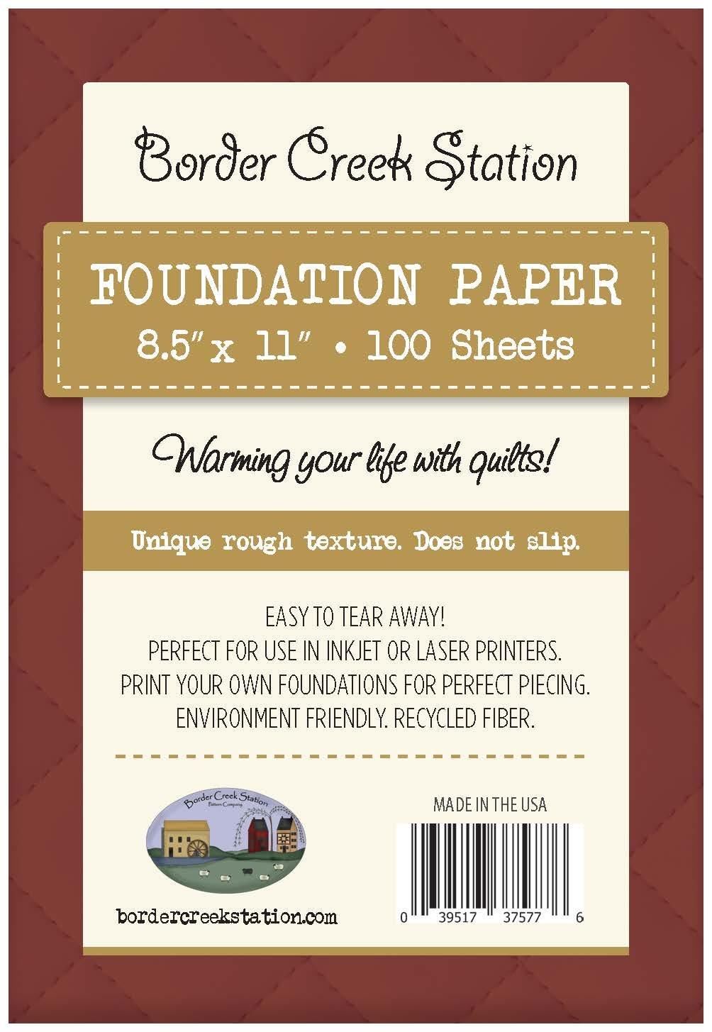 BCS Foundation Paper - 100 sheet pkg. 8.5 x 11