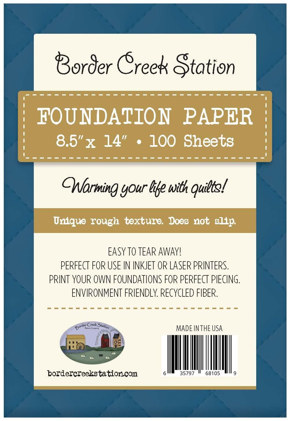 BCS Foundation Paper - 100 sheet pkg. 8.5 x 14
