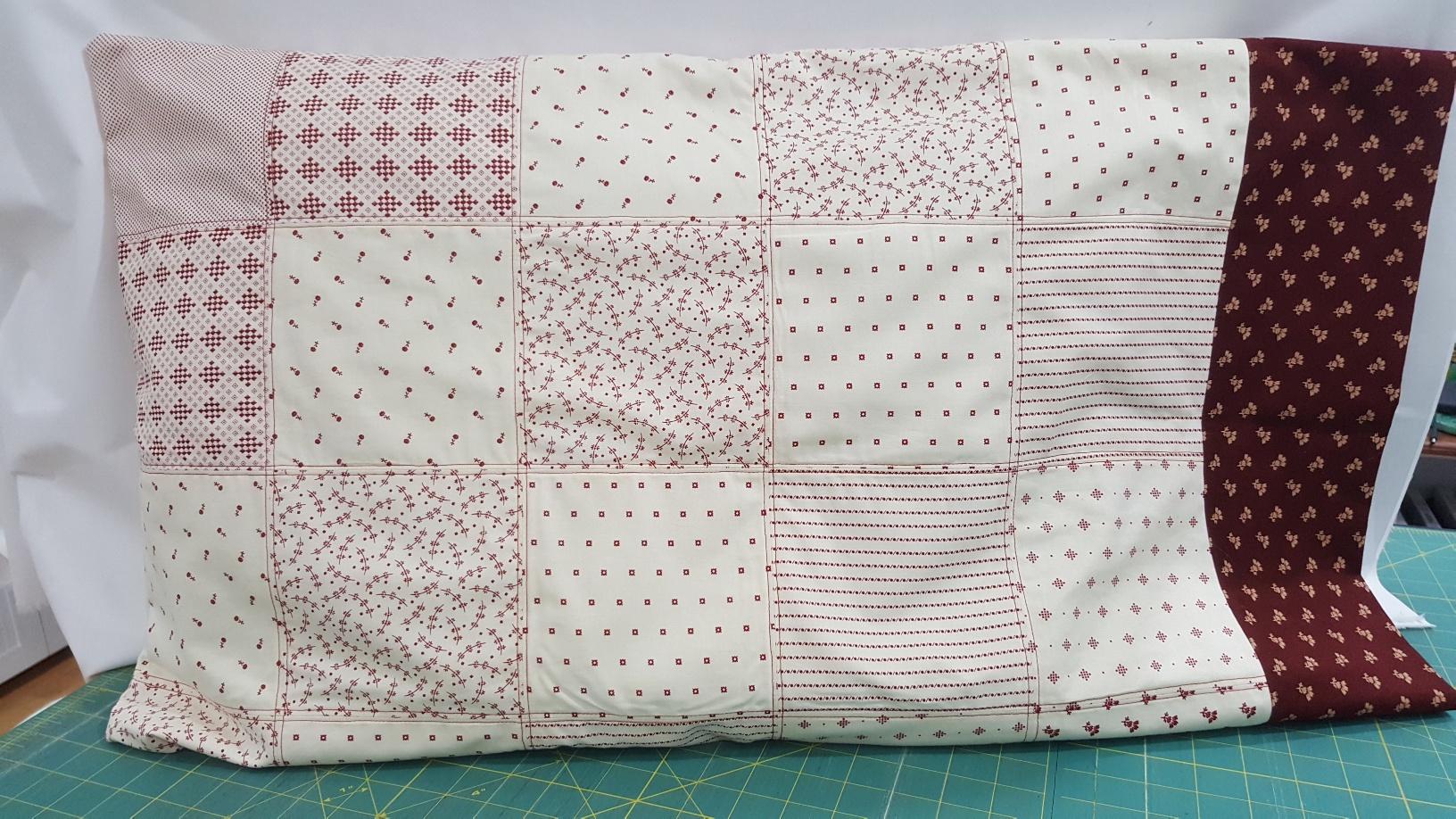 Scrappy Squares Pillow Shams Kit