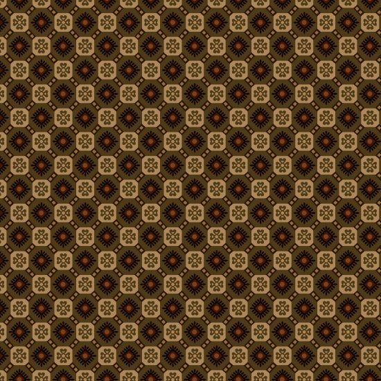 Pumpkin Farm Brown Checkerboard Foulards #2058-66 by Stacy West