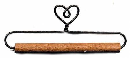 Ackfeld Wooden Dowel Hanger with Heart