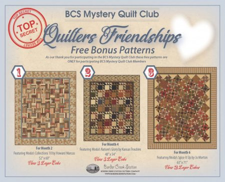 BCS Mystery Club Bonus Patterns