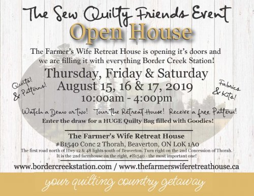 Sew Quilty Friends Event