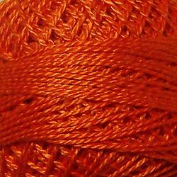 Valdani Size 12: Solid 73 Peach Orange Dark