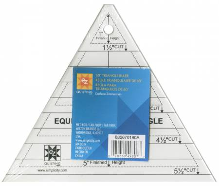 60 Degree Triangle Ruler by EZ Quilting
