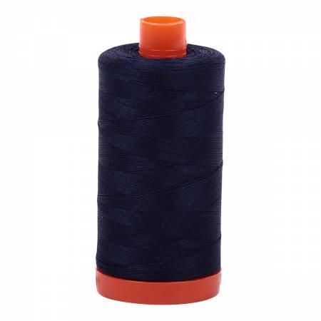Aurifil 50wt Cotton Thread #2785 Very Dark Navy