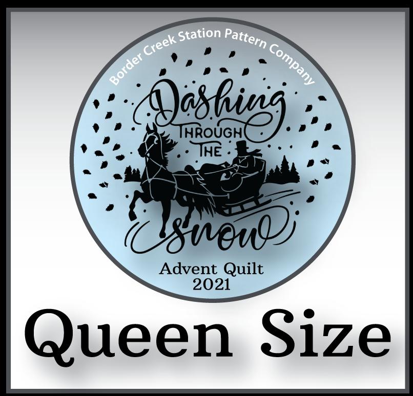 Dashing Through the Snow Fabric Kit - Queen Size