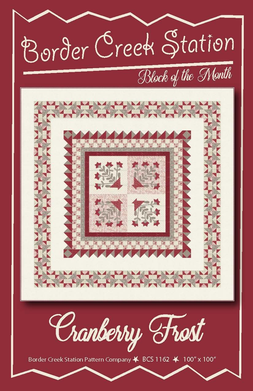Cranberry Frost - Block of the Month