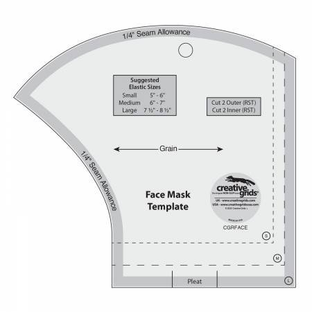 Creative Grid Face Mask Template - In Stock!