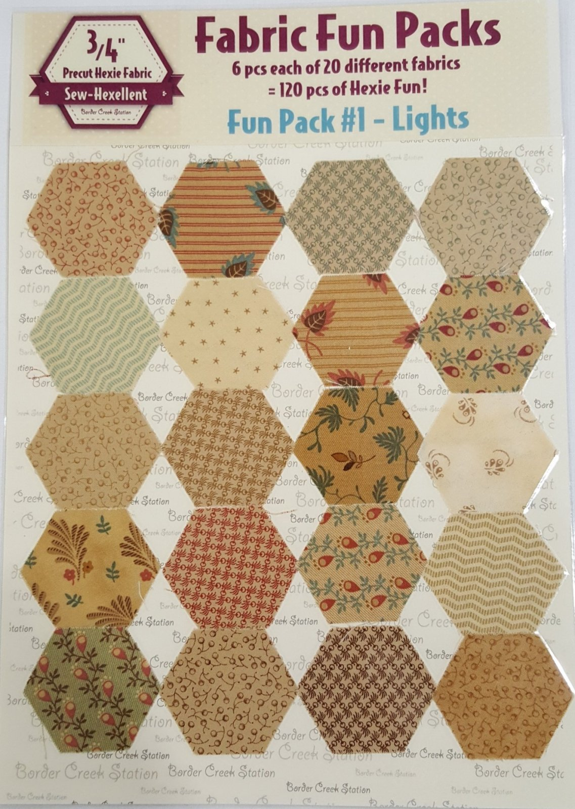 Sew-Hexellent Fun Pack Precuts for 3/4 Hexies
