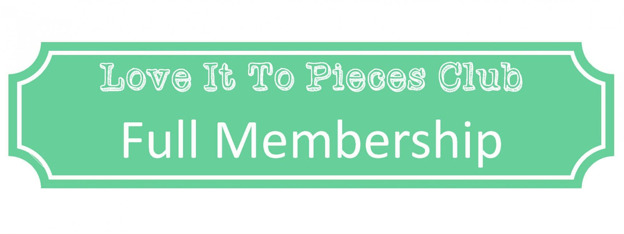 The LITP Club Payment Option: Full Membership FULL