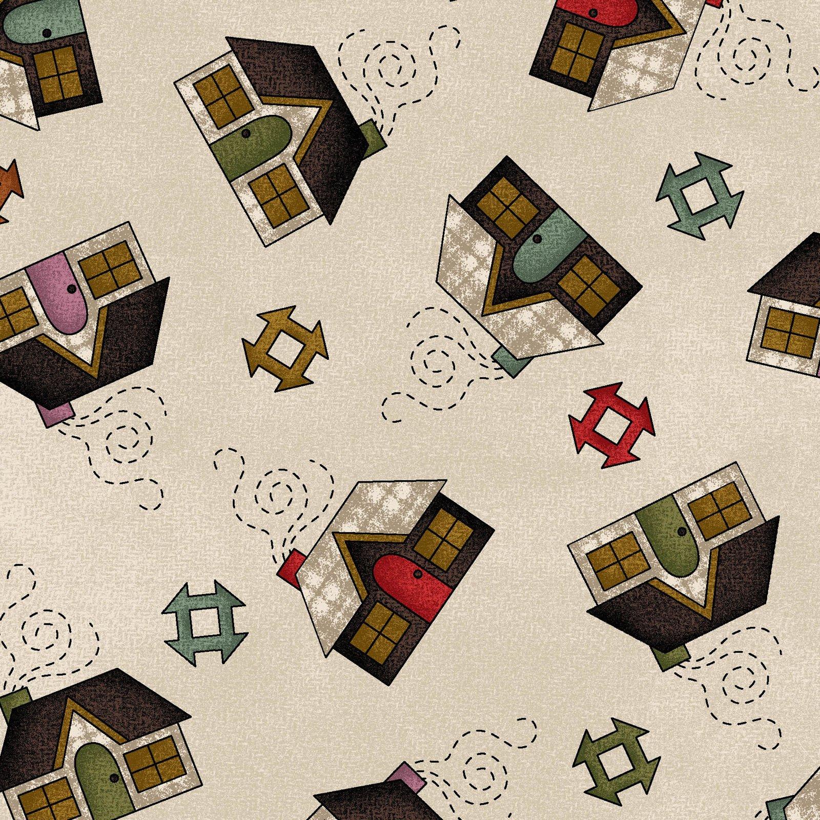 Home  Sweet Home Flannel #MASF9412-E by Bonnie Sullivan