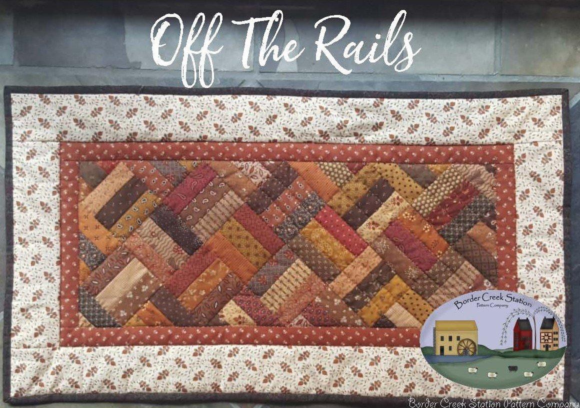 Off The Rails Tablerunner Precut Fabric Kit