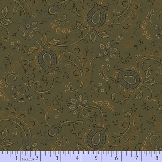 Country Meadow #1708-Green by Pam Buda