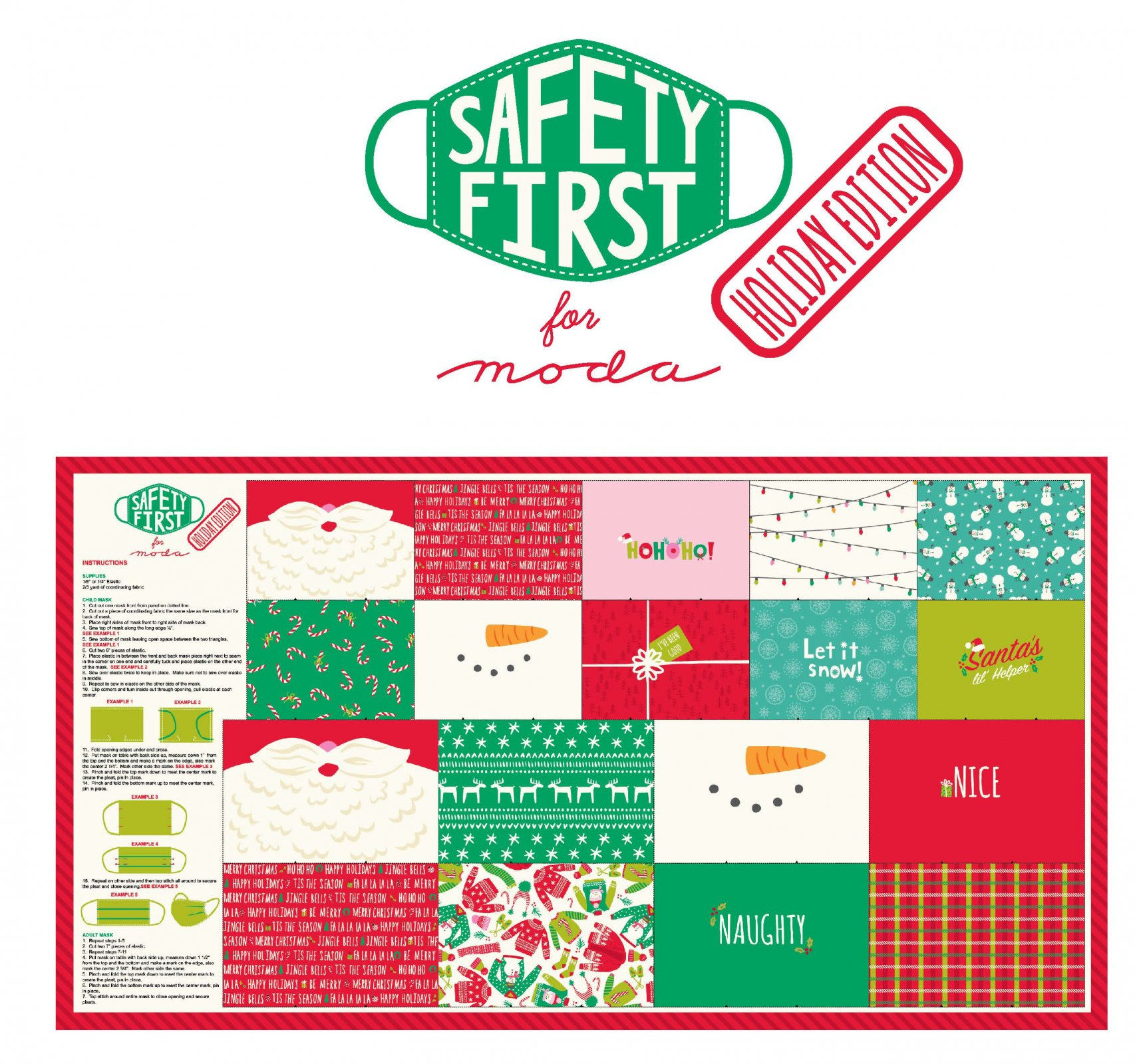 Safety First Holiday - Mask Panel from Stacy Iest Hsu PRE-ORDER