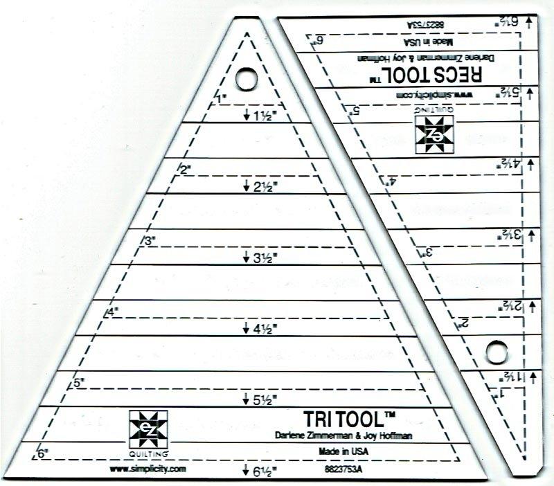 Tri-Recs Triangle Ruler by EZ Quilting