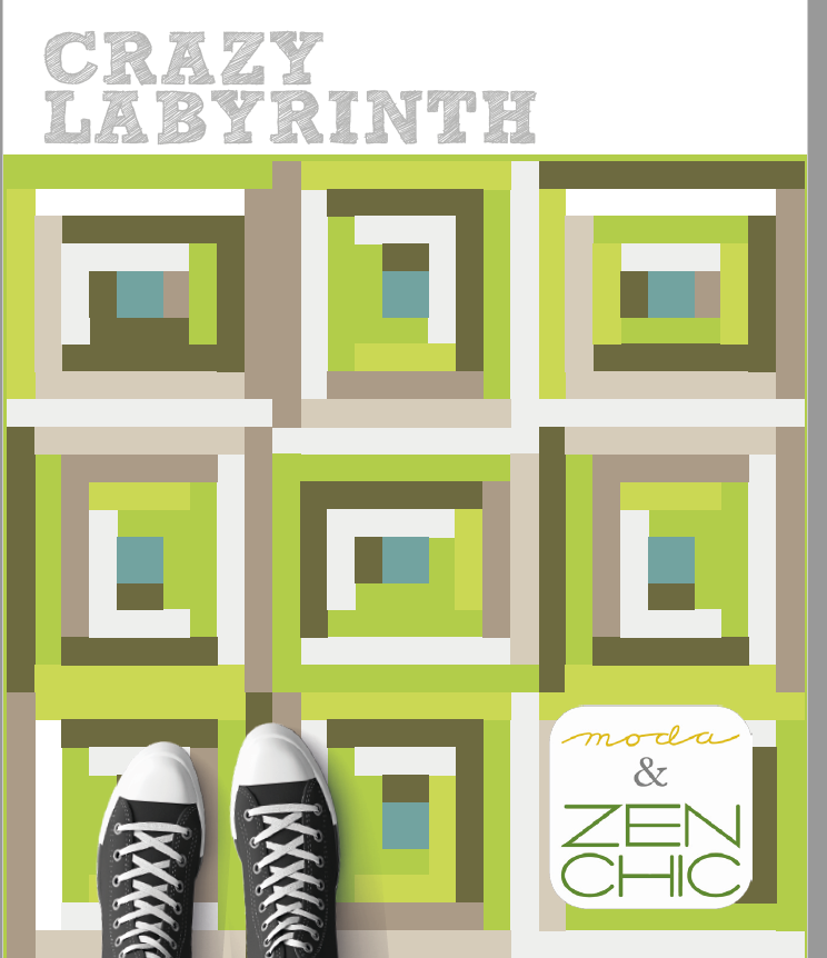 Crazy Labrinth Jelly Roll Quilt Free Pattern Download